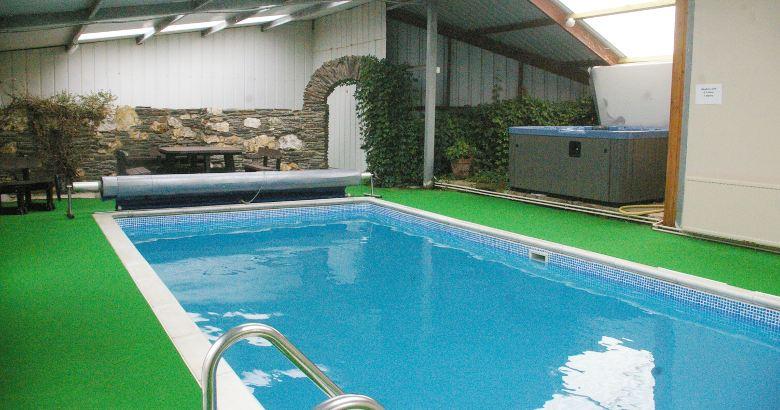 Farm Holidays Wales Indoor Pool And Hot Tub At Morlogws Farm