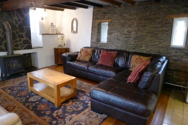 Morlogws Carthouse Cottage Lounge